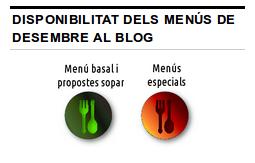 La icona verda indica que els menús estan disponibles, la vermella que encara no ho estan.